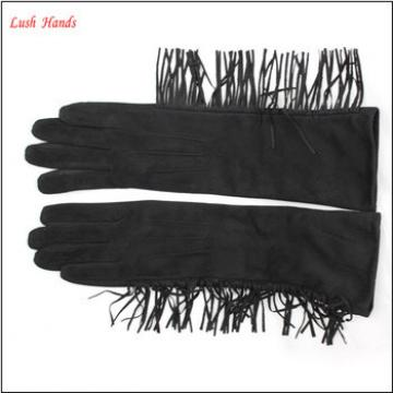 ladies fashion dress chea gloves long faux suede leather women gloves
