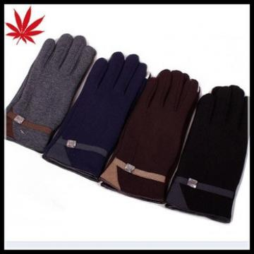 Men's polar fleece gloves for touchscreen