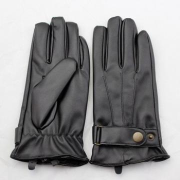 New Men's PU Police leather Gloves / Driving leather Gloves