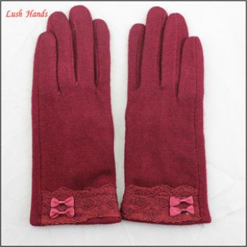 wholesale fashion dress thin woolen touch screen gloves