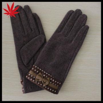 2016 Ladies' winter brown woolen fashion gloves