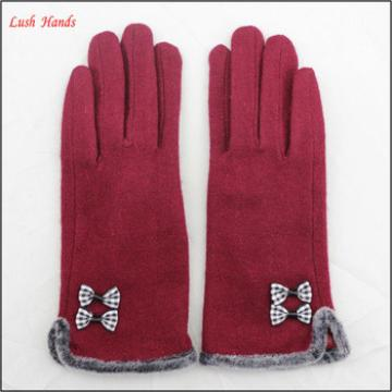 2016 spring new style woolen hand gloves women with raw edges