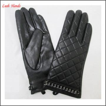 women fashion PU leather gloves hand gloves manufacturers in china