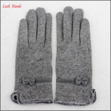 Custom Designs Winter warm women cheap woolen gloves