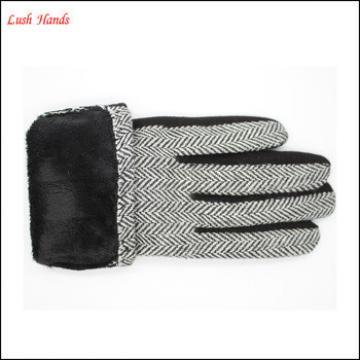 2016 ladies micro velvet smart touching screen gloves for wholesale