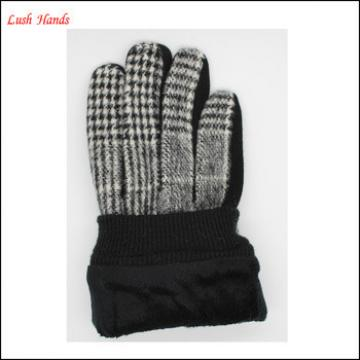 ladies delicate factory woolen gloves lining with polyester