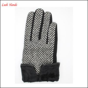 ladies high-quality woolen gloves with polyester