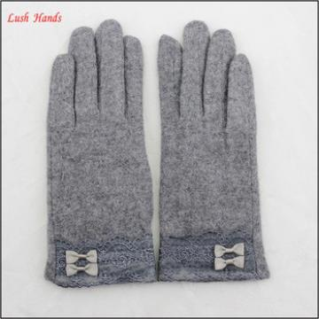 Cheap sexy wholesale wool grey dress gloves with lace and belt for women and Girls