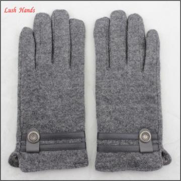 ladies warm winter thin grey woolen hand gloves with belt