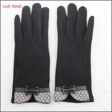 Touch screen micro velvet gloves for girls