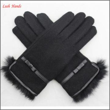 ladies new style soft winter warm woolen gloves for wholesale