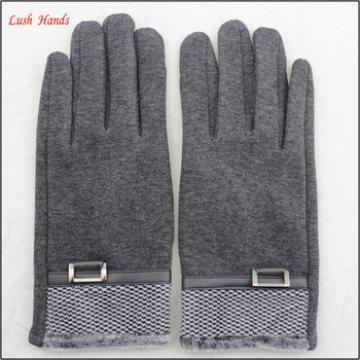 men's high-quality soft woolen touch-screen gloves for wholesale