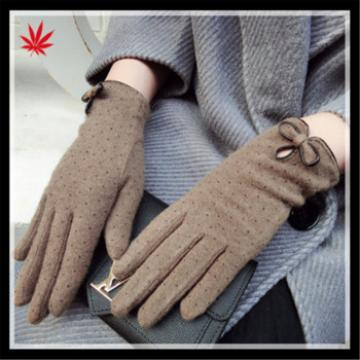 Ladies fangle new style spandex velvet gloves with wholesale price