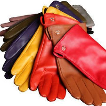 women nappa leather simple plain gloves