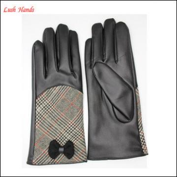 2016 fashion cheap leather-cloth working hand goatskin gloves for women