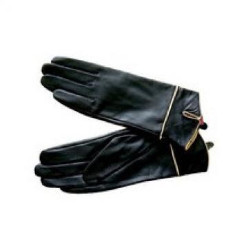 2015 winter black genuine leather gloves