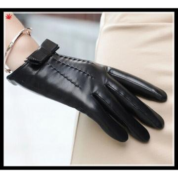 new 2016 womans fashion wholesale winter gloves with black bow