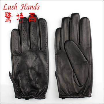 2016 new fashion police mens black leather gloves with wholesale price