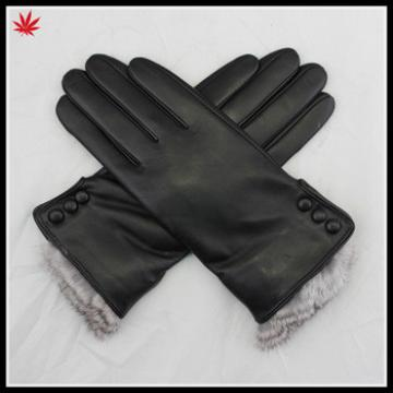 Wholesale leather gloves sexy women wearing genuine leather glove