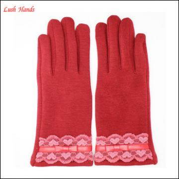 ladies lace micro velvet sexy wholesale winter gloves dress for women party