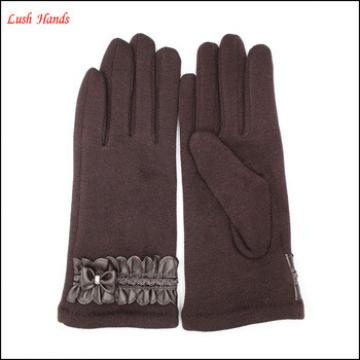 2016 ladies brown micro velvet gloves for wholesale made in China