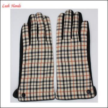 2016 Fashion girls micro velvet gloves have black button