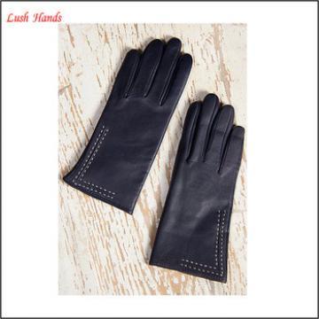 Women lambskin leather winter warm fashion gloves