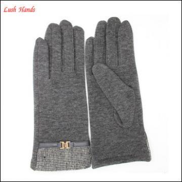 2016 ladies premium fingered spandex velvet gloves for wholesale