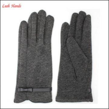 women's simple style gray micro velvet gloves for wholesale