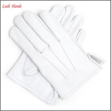 100% Leather White Masonic Wedding Brand Marching Cadet Navy Gloves