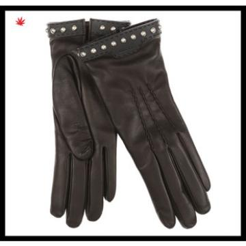 fashion wholesale women gloves with decorative rivets