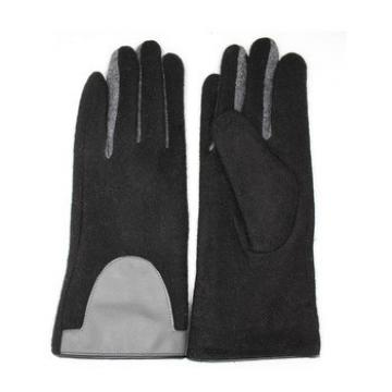 Cheap wholesale ladies woolen gloves with supersoft polyester lining