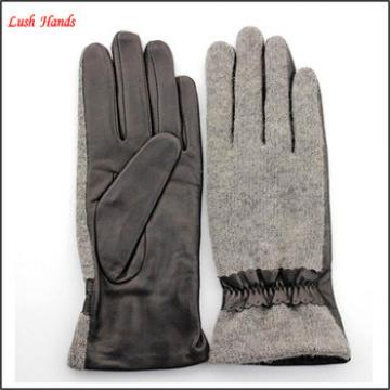 2016 new fashion manufactory winter ladies leather gloves