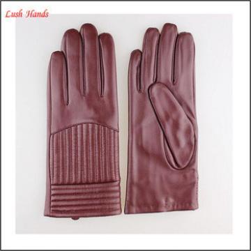 Women accessories Europe custume leather glove for beautiful women