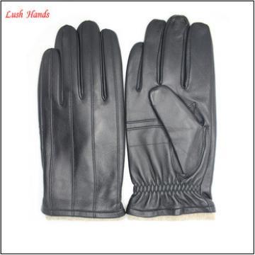 Driving gloves for men fashion black goatskin mens leather driving gloves