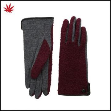 Echo design touch boucle woolen gloves for female
