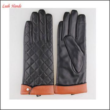 Women dresses sexy black leather glove