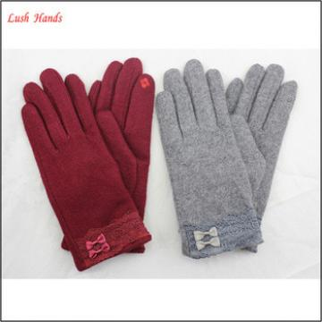women's smartphone touch-screen woolen gloves for wholesale