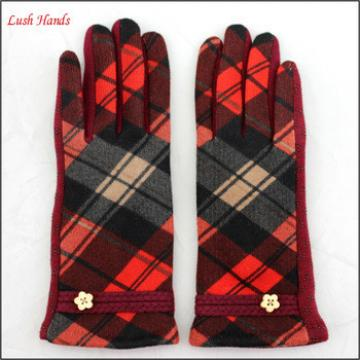 ladies winter woolen top touch screen hand gloves women with button