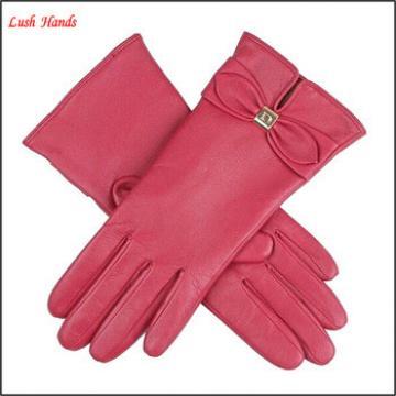 women's winter Genuine Leather hand Gloves