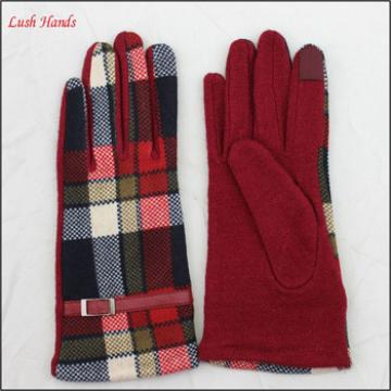 Christmas and new year girl and ladies gift woolen gloves and fabric touch screen gloves