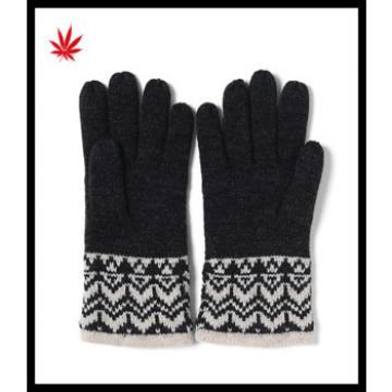 2016 ladies popular warm woolen gloves for wholesale