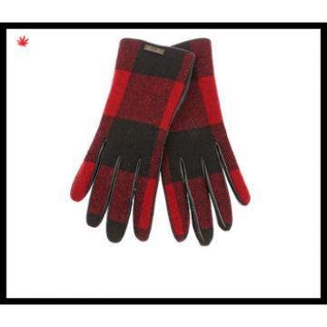 women fashion tweed woolen checker-design gloves with wolesale price