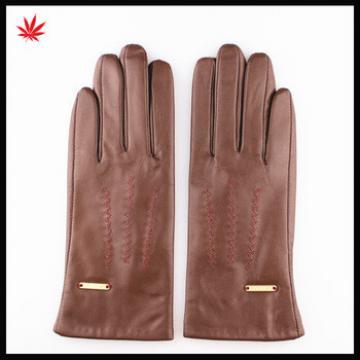 2016 Lady's fashion leather gloves nappa sheepskin leather gloves