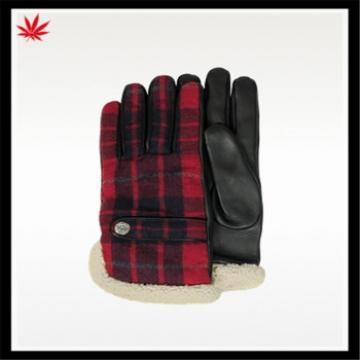 ladies lovely warm woolen gloves with fake fur cuff for wholesale