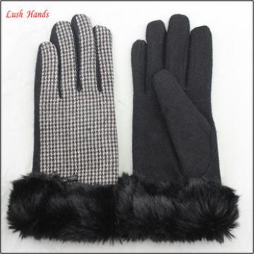 2016 Hign quality fashion ladies' woolen gloves