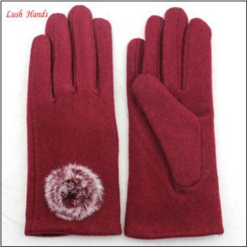 2016 Goodluck Factory woolen gloves new design ladies winter warm woolen