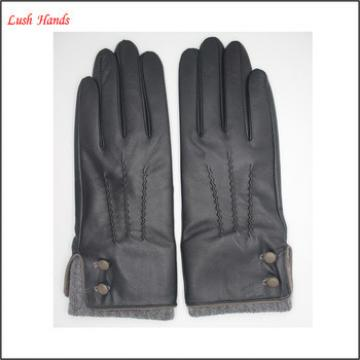 ladies classic winter leather hand gloves black