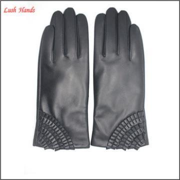 2016 Ladies Genuine Sheepskin Fashion Soft Leather Glove Lixian