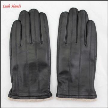 men basic style winter sheepskin leather gloves glove manufacture